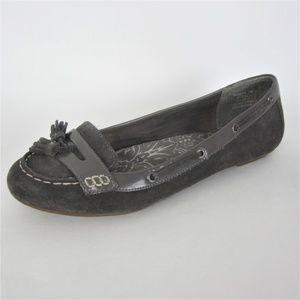 Sperry TopSider Gray Tassel Loafers Suede 10